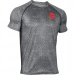 Under Armour tričko Tech Scope Printed SS T - Stealth Gray