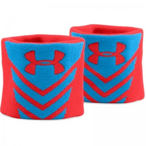 Under Armour Undeniable Jacquarded Wristbands - Red