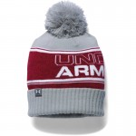 Under Armour čepice Pom Beanie - Red