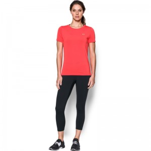 Under Armour HG Armour SS - MARATHON RED
